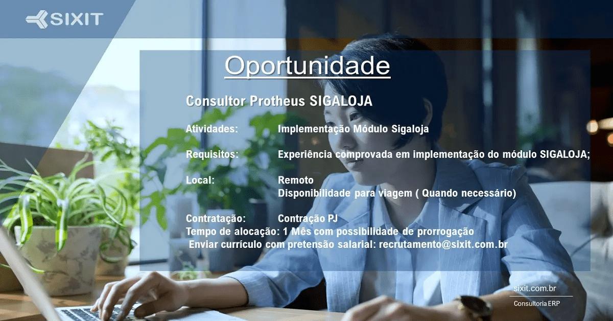Oportunidade Protheus sixit